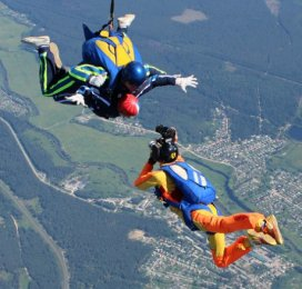 Прыжки с парашютом в тандеме с инструктором, тандем прыжок с