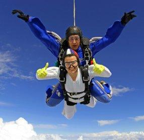 Сертификат на прыжок с парашютом в Москве, подарить прыжок с парашютом