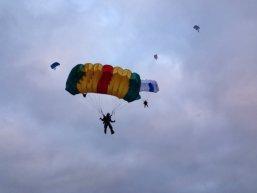Занятия парашютным спортом